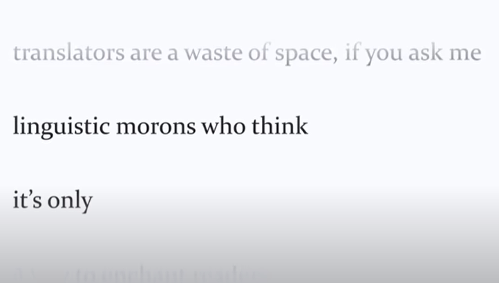 'Translators are a waste of space'